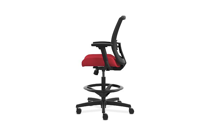 HON Endorse Collection Mesh Back Task Stool Appoint Seating Cherry Adjustable Arms Side View HLTSM.Y1.V.H.PNS010.SB