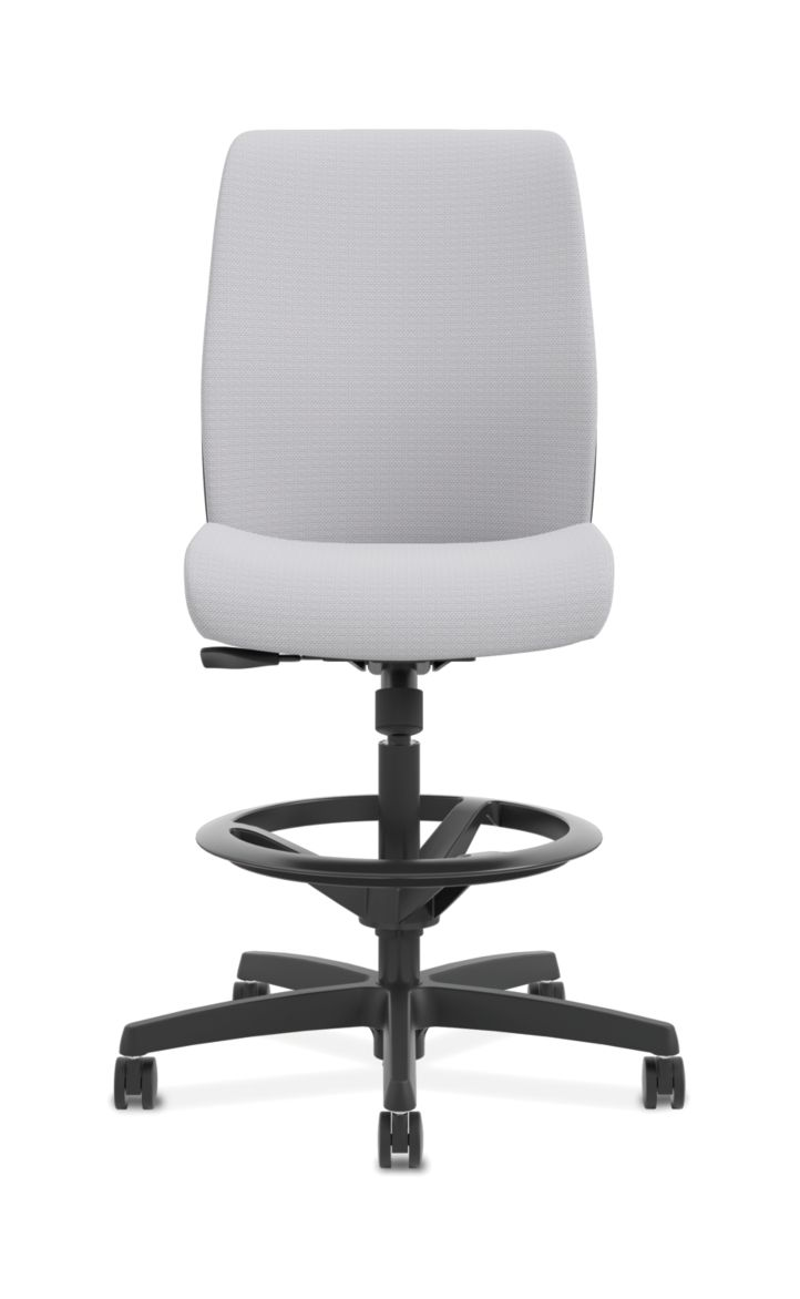 HON Endorse Collection Task Stool Plastic Back Tradition Sterling Color Armless Front View HLTSP.Y1.N.H.SMOMTRA71.SB