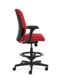 HON Endorse Collection Task Stool Plastic Back Appoint Seating Cherry Color Adjustable Arms Side View HLTSP.Y1.V.H.PNS010.SB