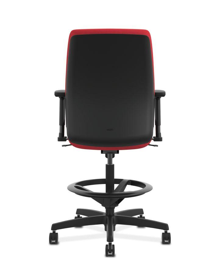 HON Endorse Collection Task Stool Plastic Back Appoint Seating Cherry Color Adjustable Arms Back View HLTSP.Y1.V.H.PNS010.SB