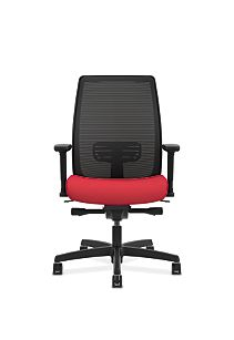 HON Endorse Collection Mesh Mid-Back Task Chair Red Front View HLWM.W5.V.H.IM.PNS010.SB.N