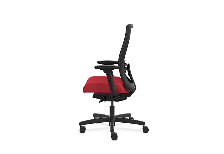 HON Endorse Collection Mesh Mid-Back Task Chair Red Side View HLWM.W5.V.H.IM.PNS010.SB.N