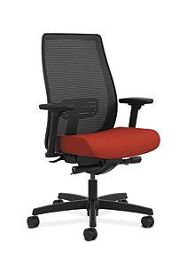 HON Endorse Collection Mesh Mid-Back Task Chair Orange Front Side View HLWM.Y2.A.H.IM.CU42.SB.N