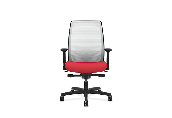 HON Endorse Collection Mesh Mid-Back Task Chair Red Front View HLWM.Y2.V.H.IF.PNS010.SB.N