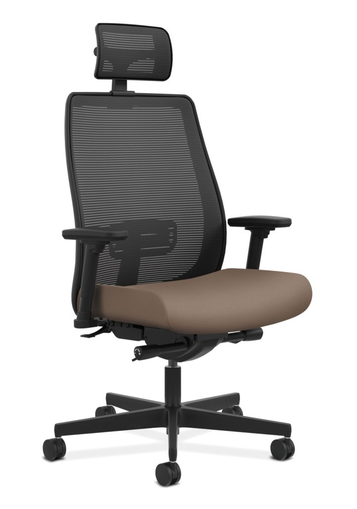 HON Endorse Collection Mesh Mid-Back Big and Tall Task Chair Centurion Morel Adjustable Arms Head Rest Front Side View HLWMBT.Y2.V.H.IM.CU24.SB