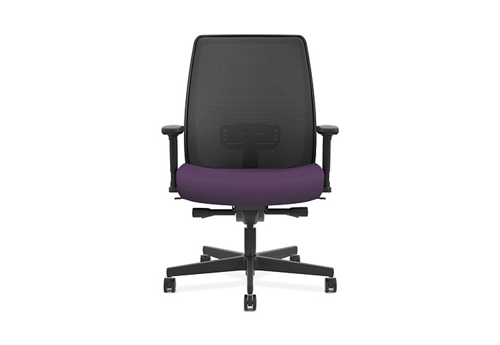HON Endorse Collection Mesh Mid-Back Big and Tall Task Chair Odyssey Iris Adjustable Arms Front View HLWMBT.Y4.V.A.IM.SMOMODY78.SB.N