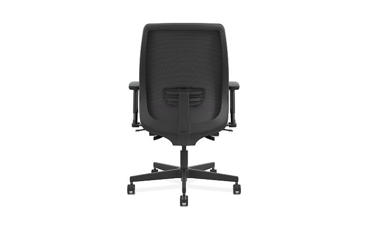 HON Endorse Collection Mesh Mid-Back Big and Tall Task Chair Odyssey Iris Adjustable Arms Back View HLWMBT.Y4.V.A.IM.SMOMODY78.SB.N