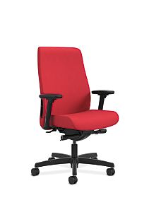 HON Endorse Collection Mid-Back Task Chair Appoint Seating Cherry Adjustable Arms Front Side View HLWU.Y2.A.H.PNS010.SB