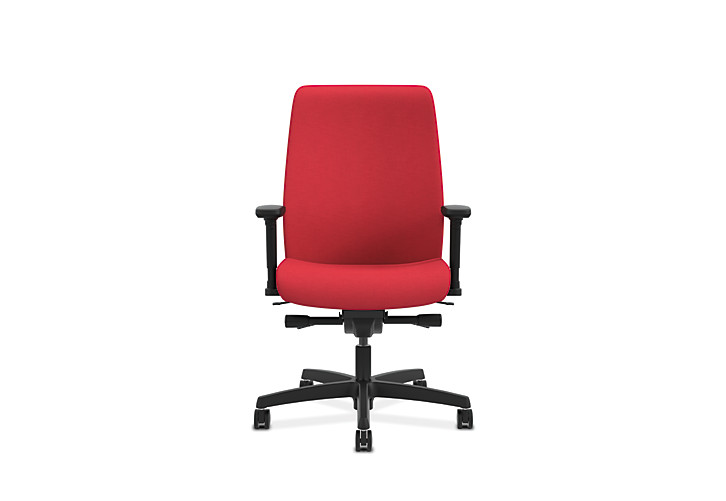 HON Endorse Collection Mid-Back Task Chair Appoint Seating Cherry Adjustable Arms Front View HLWU.Y2.A.H.PNS010.SB