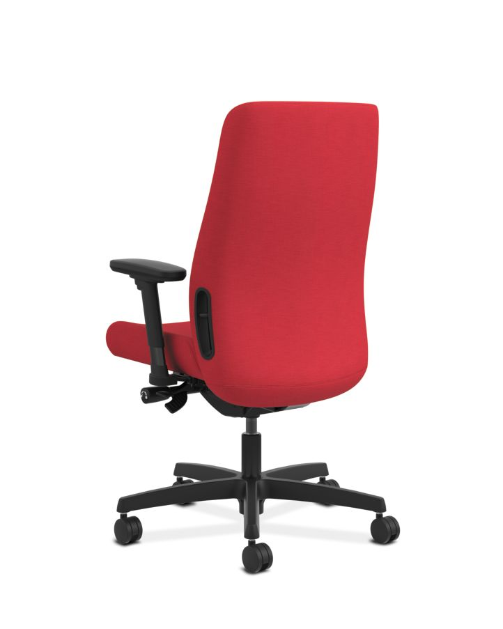 HON Endorse Collection Mid-Back Task Chair Appoint Seating Cherry Adjustable Arms Back Side View HLWU.Y2.A.H.PNS010.SB