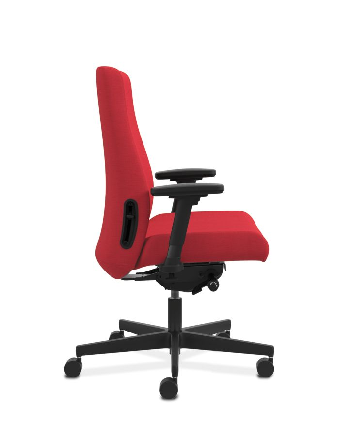 HON Endorse Collection Mid-Back Task Chair Appoint Seating Cherry Adjustable Arms Side View HLWU.Y2.A.H.PNS010.SB