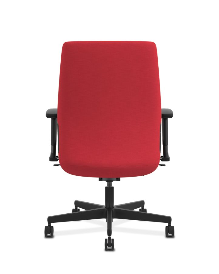 HON Endorse Collection Mid-Back Task Chair Appoint Seating Cherry Adjustable Arms Back View HLWU.Y2.A.H.PNS010.SB
