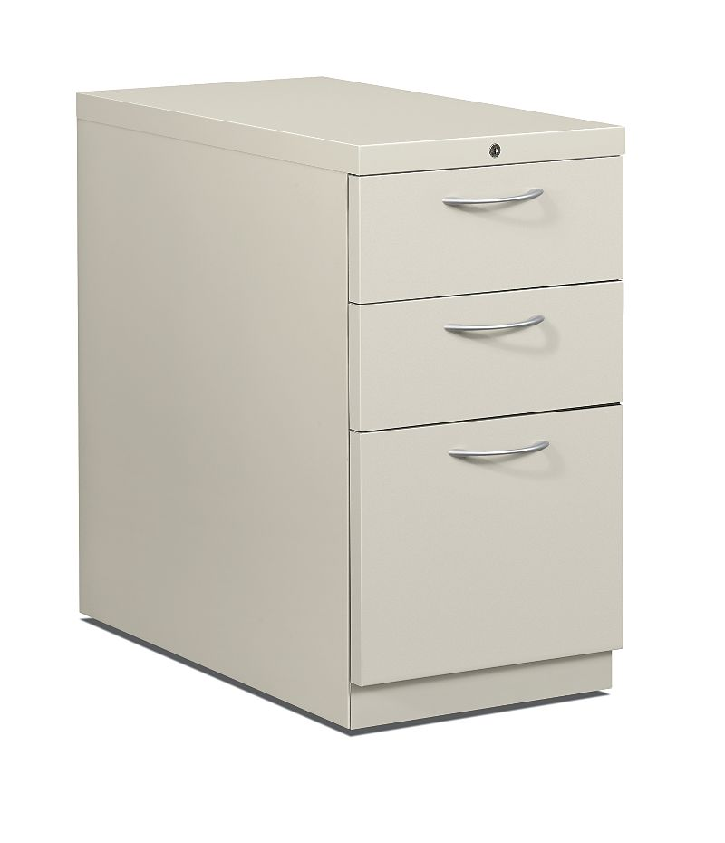 HON Flagship Mobile Pedestal White Front Side View H18730A.L.Q