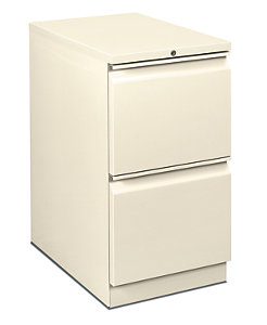HON Flagship Mobile Pedestal White Front Side View H18823R.L.T3