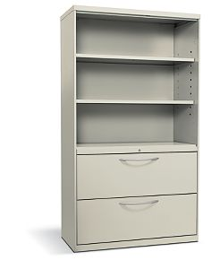HON Flagship Lateral File White Front Side View H9185LSNA.L.Q