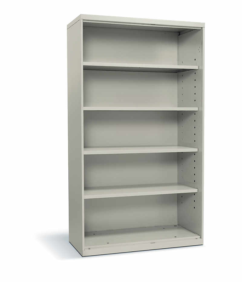 Hon Flagship 5 Shelf Bookcase White Front Side View Hfsc183664w Q