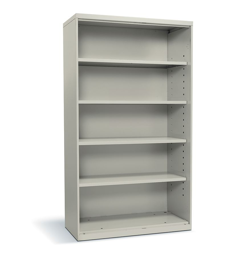 HON Flagship 5-Shelf Bookcase White Front Side View HFSC183664W.Q