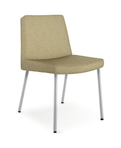 HON Flock Casual Guest Chair Beige Front Side View HFCG6.RO82.P6N