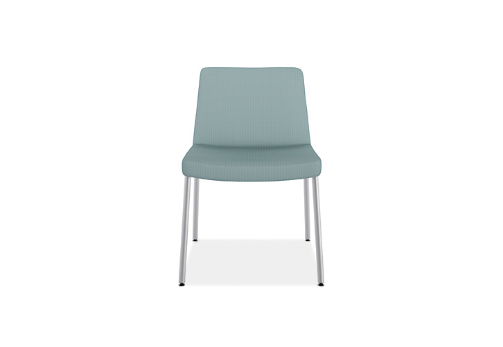 HON Flock Lounge Guest Chair Light Blue Front View HFCL1.NR96.P6N