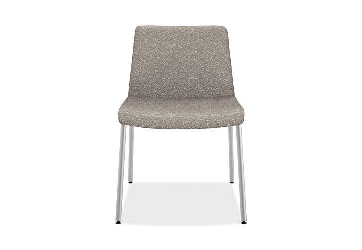 HON Flock Lounge Guest Chair Beige Front View HFCL1.RO22.P6N