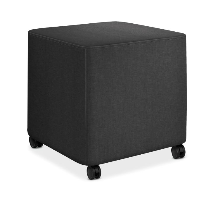 HON Flock Square Mini Appoint Seating Carbon Color HFLCO1.H.PNS008