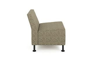 HON Flock Modular Chair Dotty Crimini Color Side View HFLMC1.DOT28.P7A