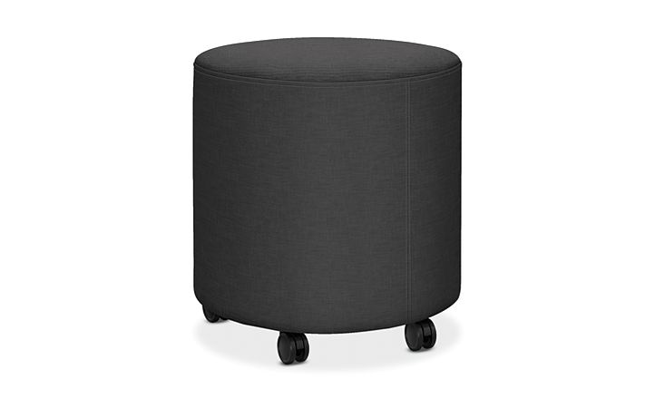 HON Flock Round Mini Appoint Seating Carbon Color HFLYO1.H.PNS008
