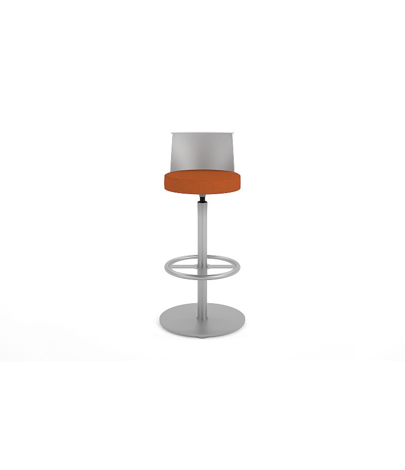 HON Flock Stool Orange Front View HFSS7.PT.PNS009.P6N