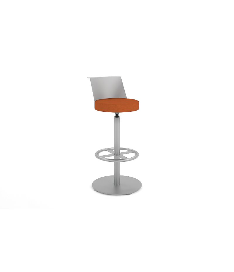 HON Flock Stool Orange Front Side View HFSS7.PT.PNS009.P6N