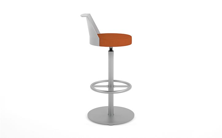 HON Flock Stool Orange Side View HFSS7.PT.PNS009.P6N