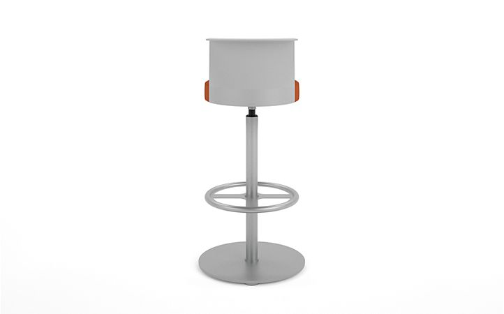 HON Flock Stool Orange Back View HFSS7.PT.PNS009.P6N