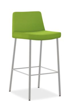 HON Flock 4-Leg Stool Dapper Spring Color Armless Front Side View HFSS74L.DAPR80.P6N