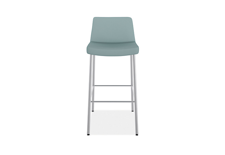 HON Flock 4-Leg Stool Inertia Surf Color Armless Front View HFSS74L.NR96.P6N