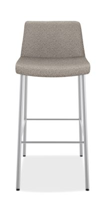 HON Flock 4-Leg Stool Light Gray Armless Front View HFSS74L.RO22.P6N