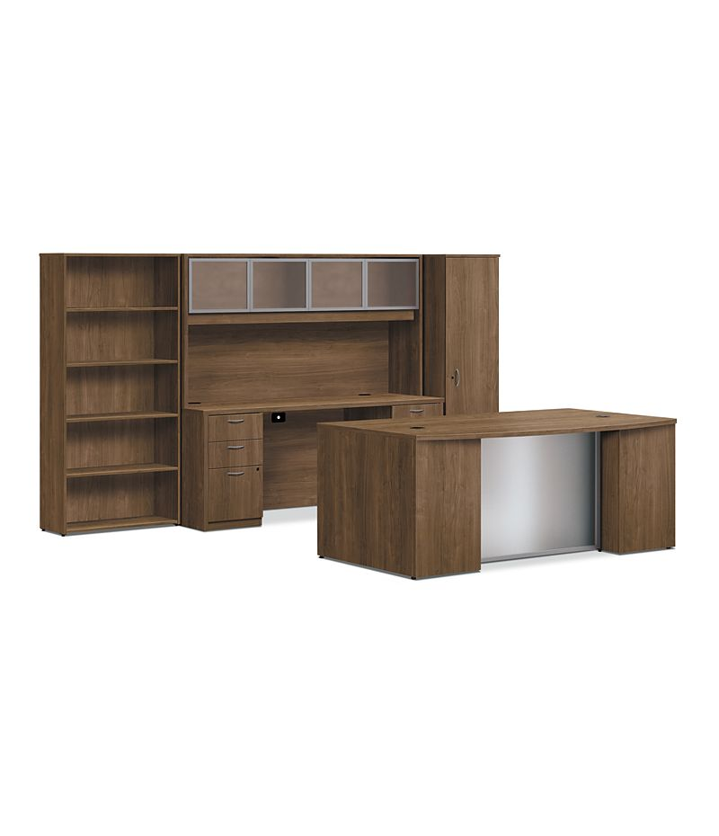 Foundation Office Suite With Wardrobe Hlmoswdrb7242 Hon