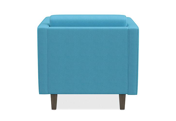 HON Grove Lounge Chair Light Blue Straight Arms Back View HML1S.A.SMOMVOX83.TS.PINC