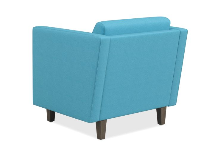 HON Grove Lounge Chair Light Blue Straight Arms Back Side View HML1S.A.SMOMVOX83.TS.PINC
