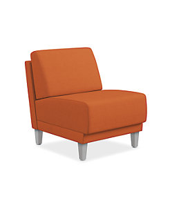 HON Grove Lounge Chair Orange Armless Front Side View HML1S.N.PNS009.TS.P6N