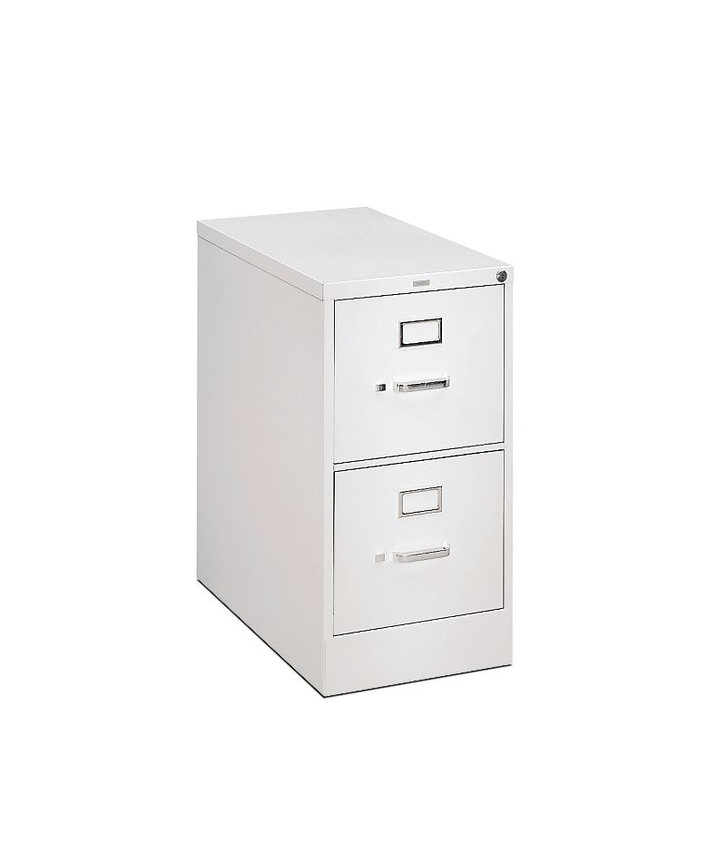 HON H320Series 2-Drawer Vertical File White Front Side View HH322.P.Q