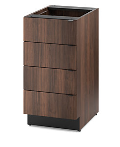 HON Hospitality Cabinets Modular Single Base Cabinet Brown Front Side View HPBC4D18.Z