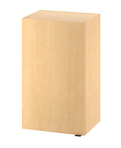 HON Hospitality Cabinets Modular Hospitality Single Wall Cabinet Natural Maple Color Front Side View HPHC1D18.D