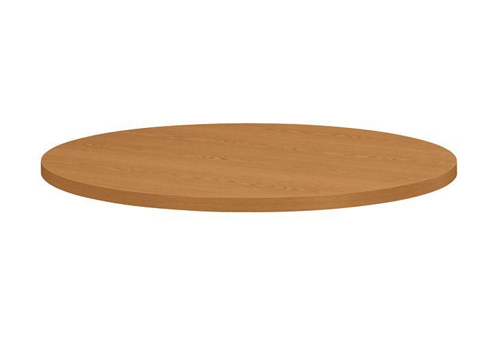 HON Hospitality Tables 42 Diameter Round Table Top Harvest Front Side View H1322