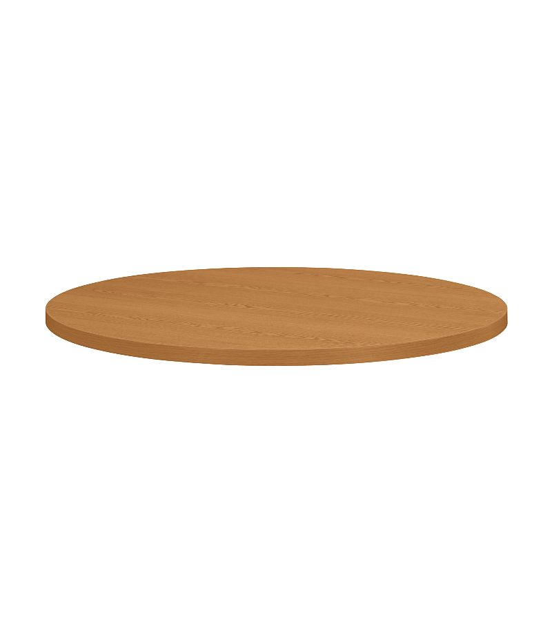 """HON Hospitality Tables 42"""" Diameter Round Table Top Harvest Front Side View H1322.C.C"""