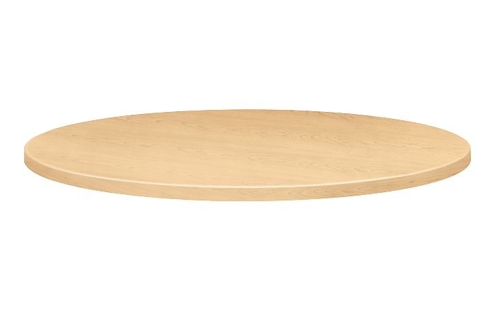 """HON Hospitality Tables 42"""" Diameter Round Table Top Natural Maple Front Side View H1322.D.D"""