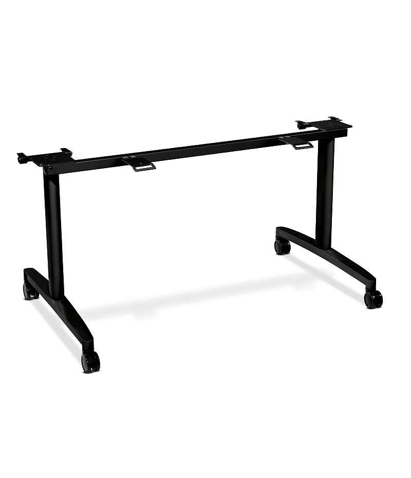 "HON Huddle Table Base Kit for 24""D x 60-72""W Tops Black HMBFLIP24L.C.P"