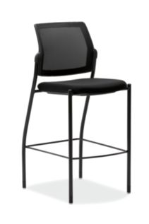 HON Ignition Cafe-Height Stool Mesh Back Confetti Black Color Armless  Front View HICS7.N.E.M.AB10.T
