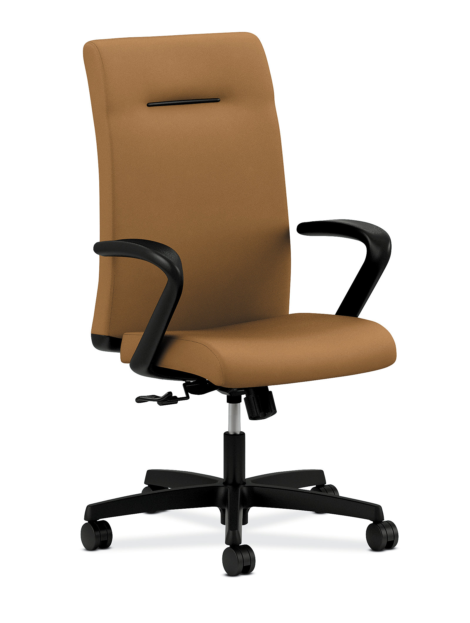 Brown conference chairs - Hon Ignition Executive High Back Chair Fixed Arms Side Front View Hieh1 F H U Cu26