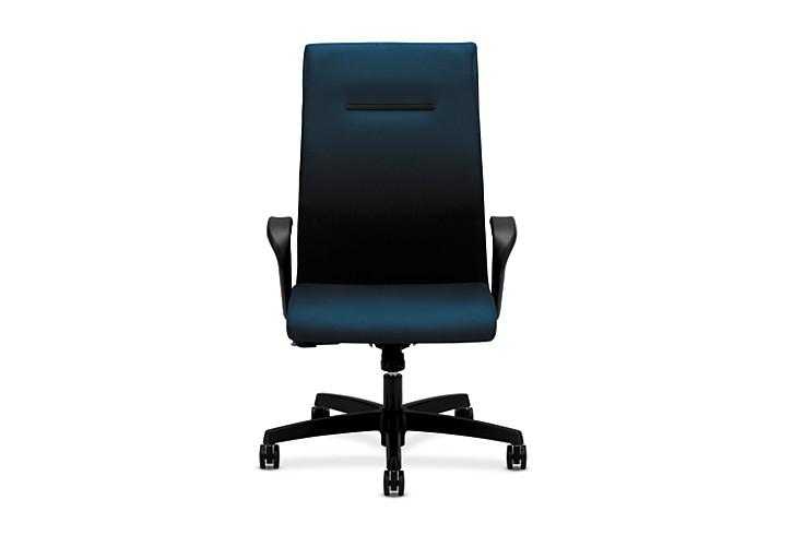 HON Ignition Executive High-Back Chair Fixed Arms Front View HIEH1.F.H.U.NT90.T.SB