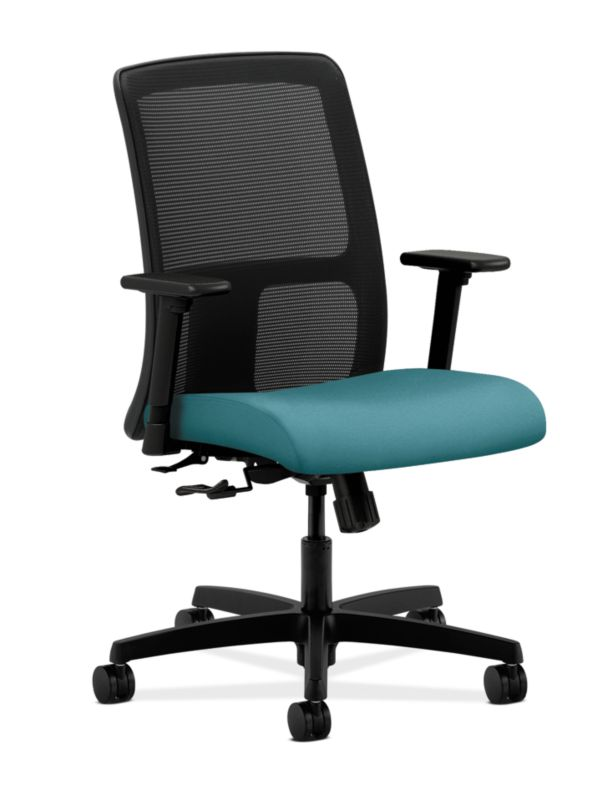 HON Ignition Low-Back Task Chair Mesh Back Centurion Glacier Adjustable Arms Front Side View  sc 1 st  HON Office Furniture & Task Chairs | HON Office Furniture
