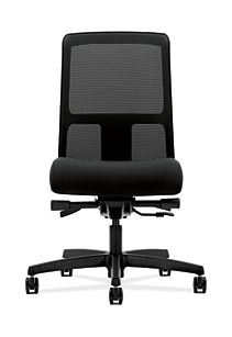 HON Ignition Low-Back Task Chair Mesh Back Confetti Black Color Armless Soft Caster Front View HITL3.N.S.M.AB10.T.SB